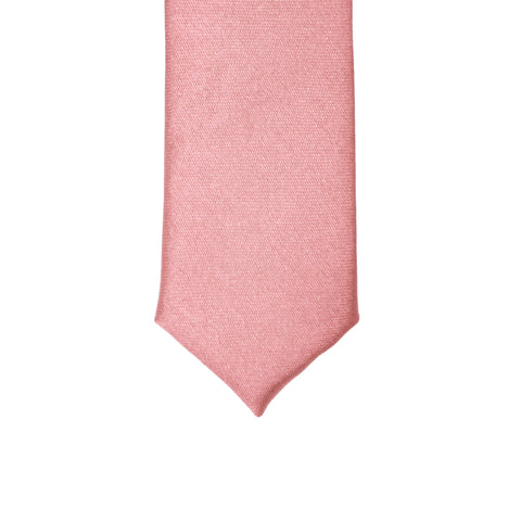 Super Skinny Pink Shiny Slim Tie