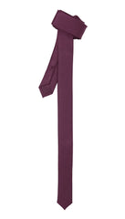 Ferrecci Super Skinny Plum Purple Shiny Slim Tie