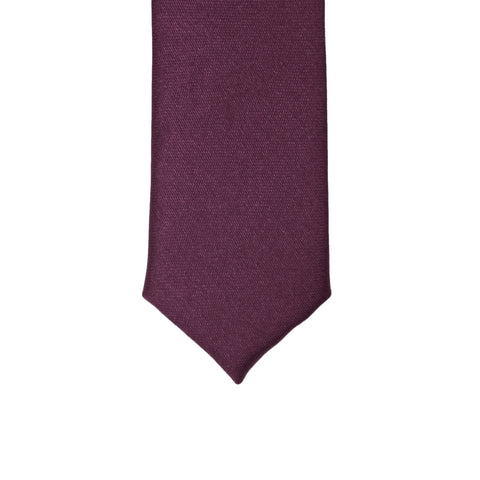 Super Skinny Plum Shiny Slim Tie