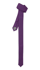 Super Skinny Purple Shiny Slim Tie