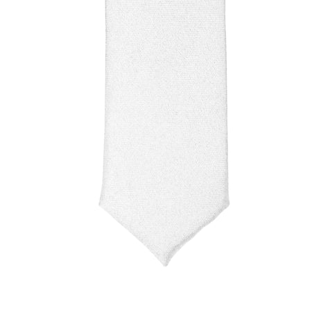 Super Skinny White Shiny Slim Tie