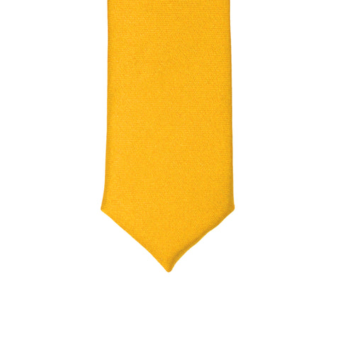 Super Skinny Yellow Shiny Slim Tie