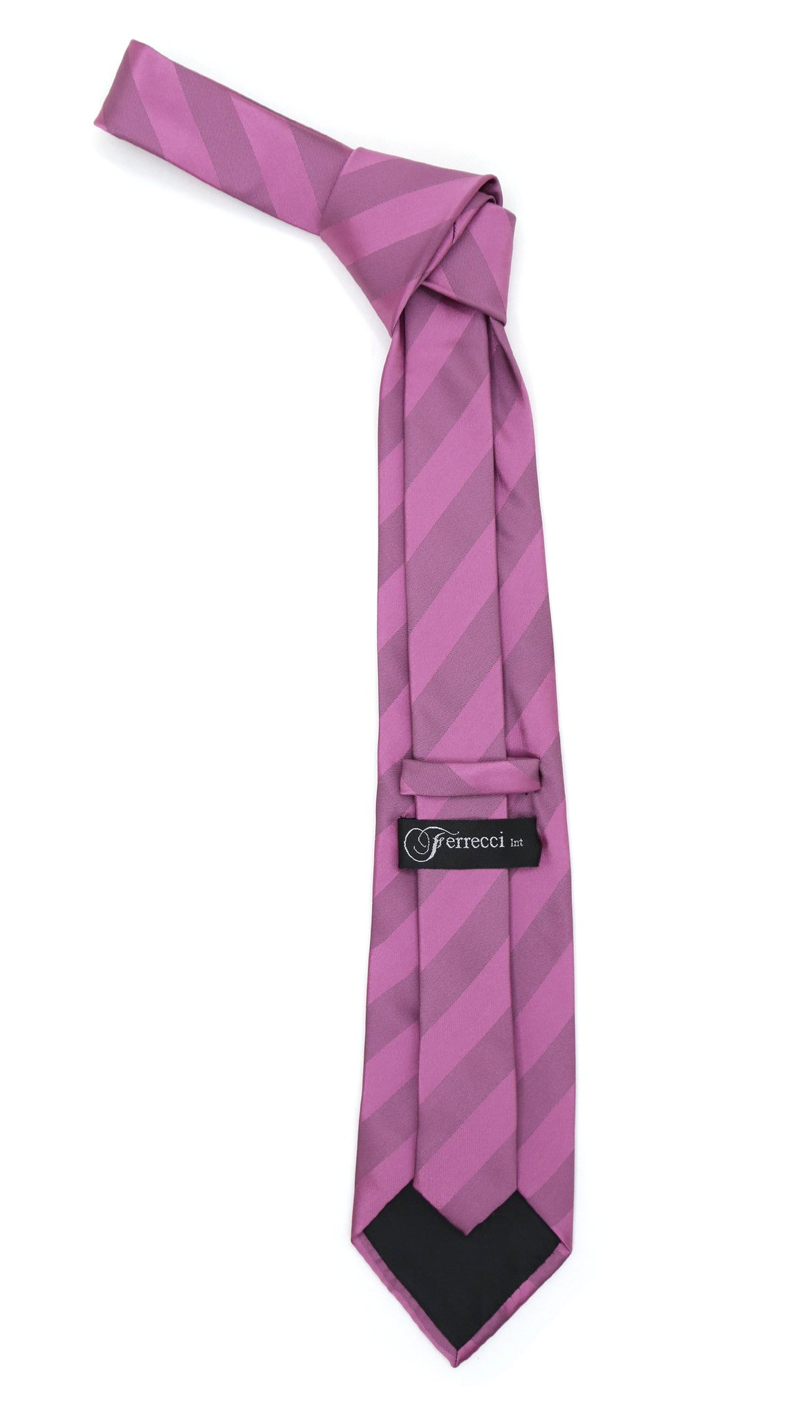Microfiber Lavender Striped Tie and Hankie Set