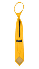 Satine Mango Zipper Tie with Hankie Set