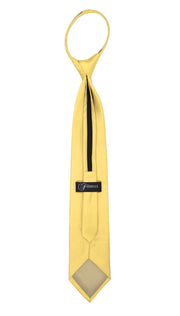 Satine Yellow Zipper Tie with Hankie Set