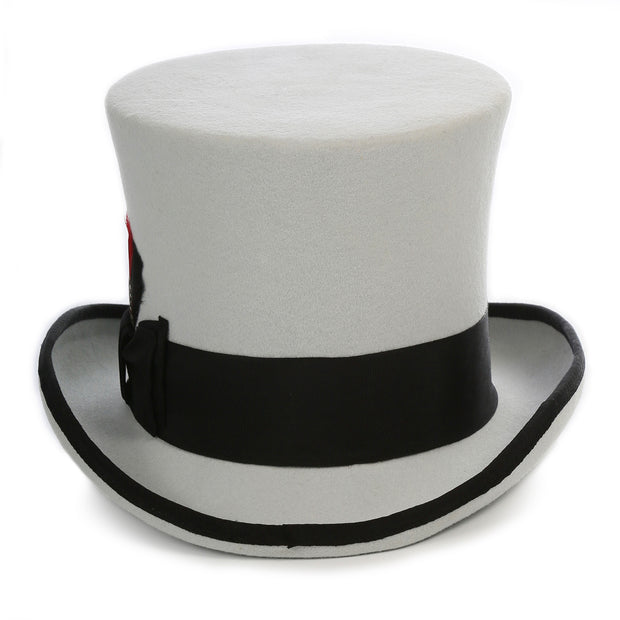 Premium Grey with Black Wool Top Hat