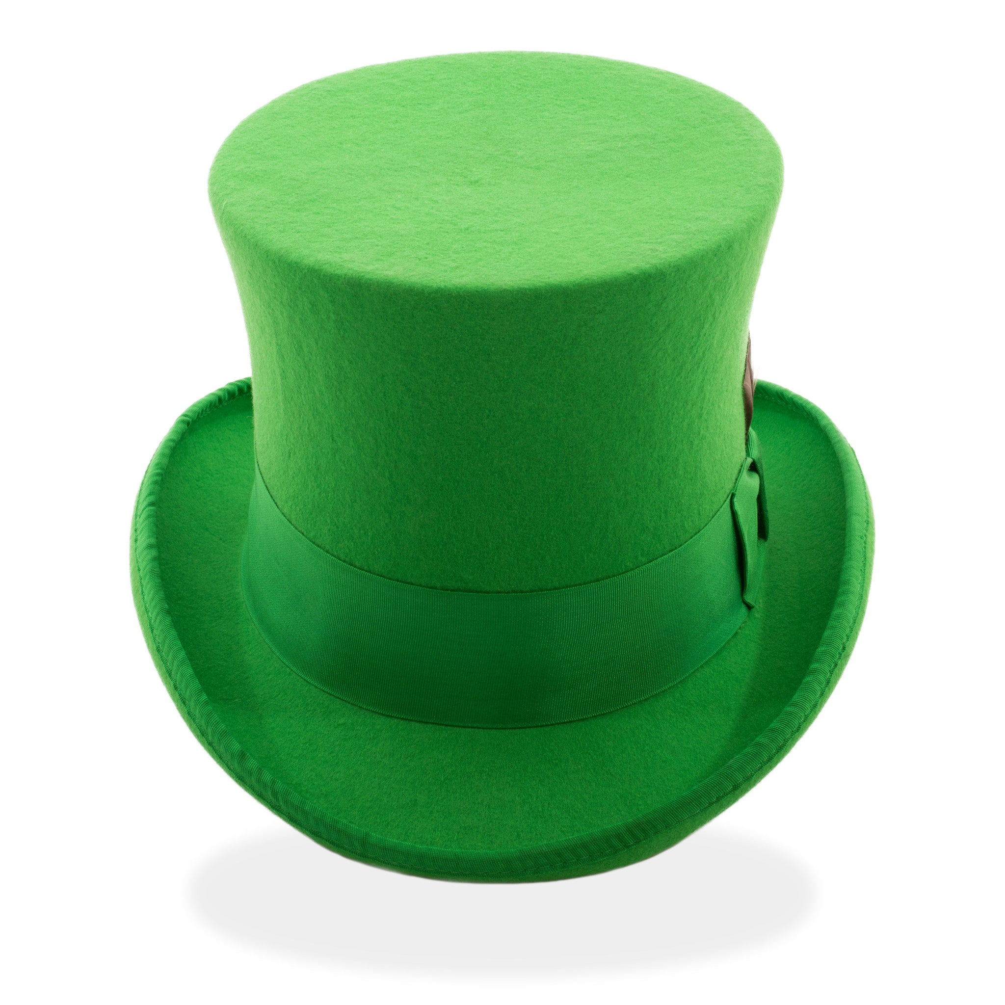 ferrecci unisex premium wool felt green top hat