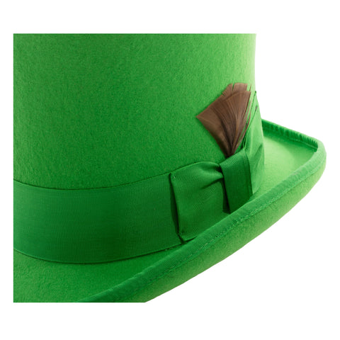 Premium Wool Kelly Green Top Hat