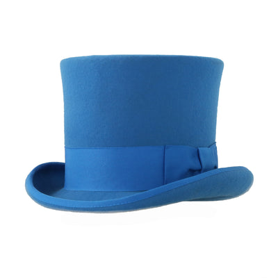 Premium Wool Blue Top Hat - Ferrecci USA