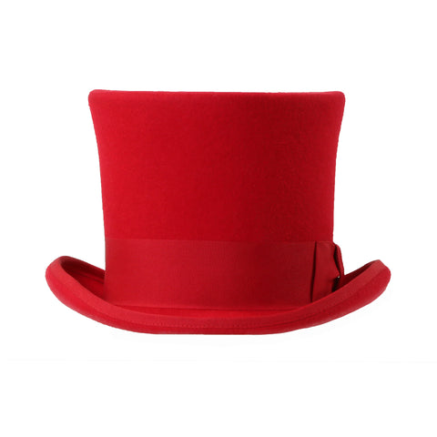 Premium Wool Red Top Hat