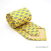 FHY INC yellow cow print tie with handkerchief