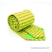 Firefly Lime Green Necktie with Handkerchief Set - Ferrecci USA