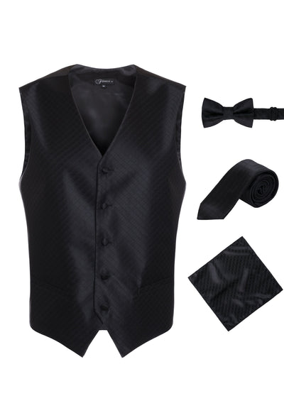 Ferrecci Mens 300-10 Black Diamond Vest Set