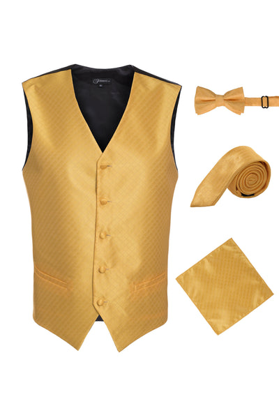Ferrecci Mens 300-17 Gold Diamond Vest Set - Ferrecci USA