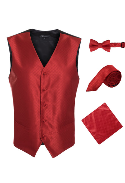 Ferrecci Mens 300-21 Red Diamond Vest Set - Ferrecci USA