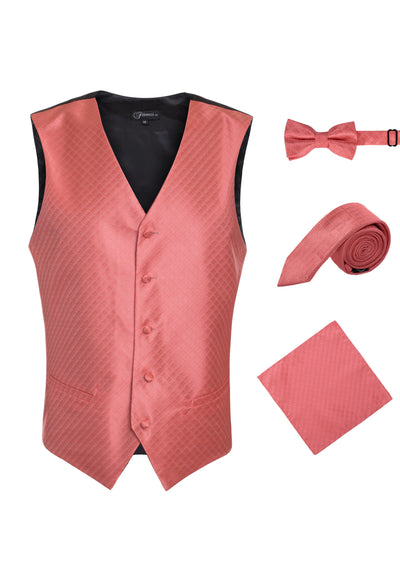 Ferrecci Mens 300-34 Coral Diamond Vest Set - Ferrecci USA