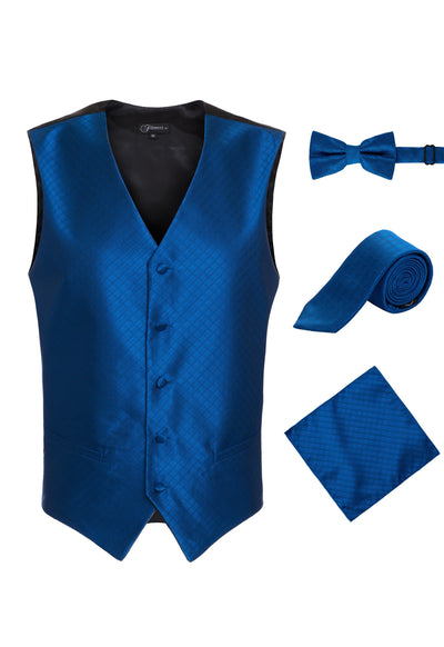 Ferrecci Mens 300-8 Royal Diamond Vest Set - Ferrecci USA