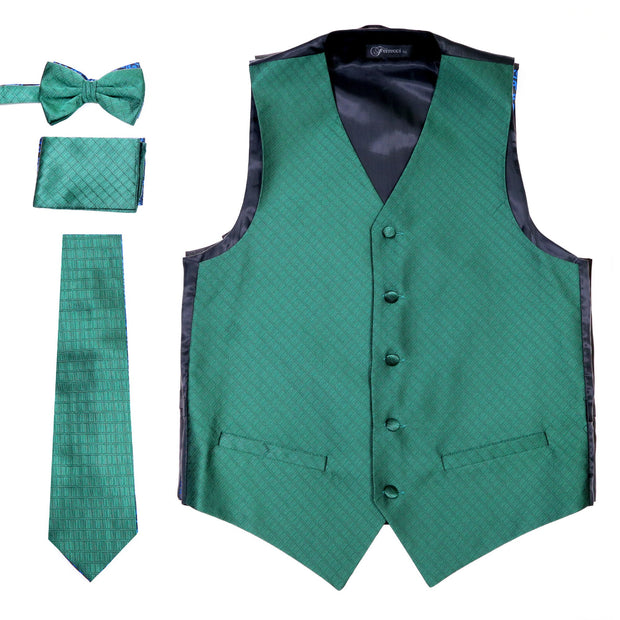 Ferrecci Mens 300 Dark Green Diamond Vest Set - Ferrecci USA