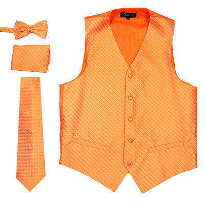 Ferrecci Mens 300 Orange Diamond Vest Set - Ferrecci USA