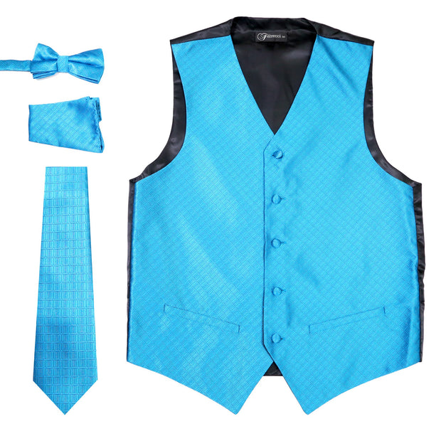Ferrecci Mens 300-28 Aqua Diamond Vest Set - Ferrecci USA