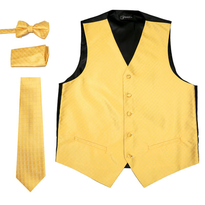 Ferrecci Mens 300-33 Yellow Diamond Vest Set - Ferrecci USA