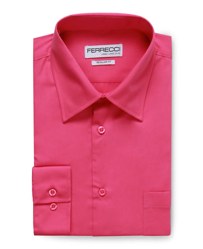 Virgo Fuchsia Regular Fit Shirt - Ferrecci USA