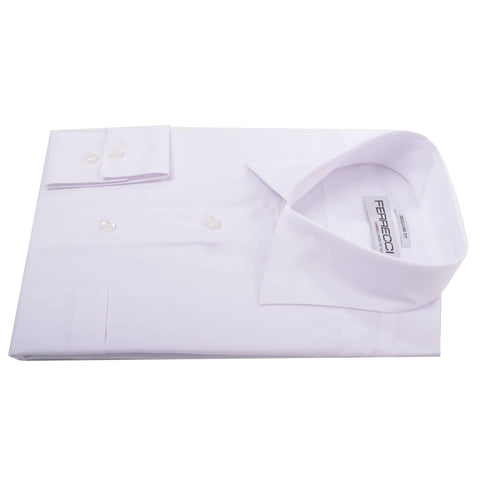 Virgo Snow Wht Reg Fit French Cuff Dress Shirt