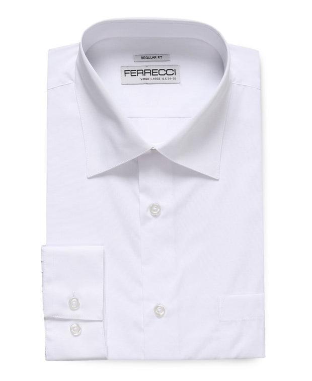 Virgo Snow White Regular Fit Shirt - Ferrecci USA