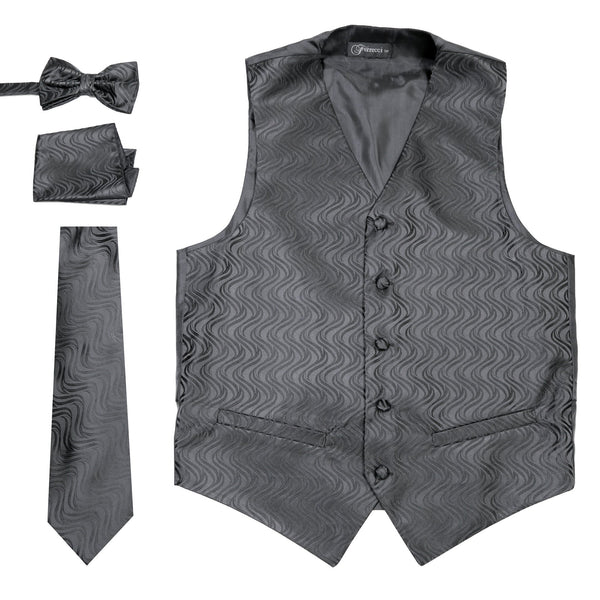 black mens vest Ferrecci