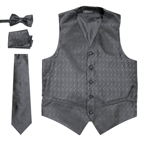 Ferrecci Mens PV150 - Black/Black Vest Set