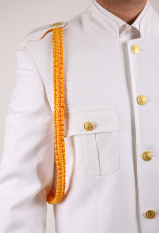 Ferrecci Mens White Military Cadet Uniform