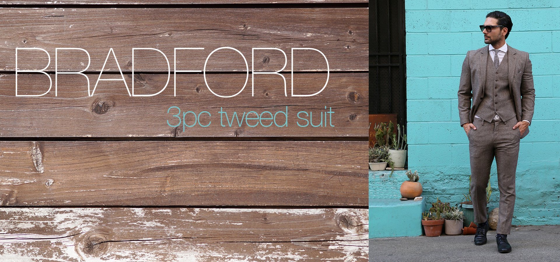 Bradford Super Slim Fit Tweed Suit | FERRECCI