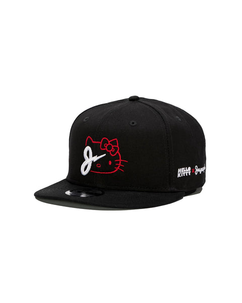 KITTY BOLT SNAPBACK IN BLACK