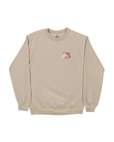 KITTY BOLT CREWNECK SWEATER IN SAND