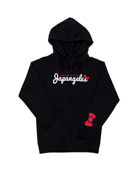 KITTY SCRIPT HOODIE IN BLACK