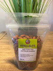 Wholelife Insecticide-Free Australian Almonds 400gms