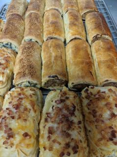 Bakery - The Works - Cheese, Bacon & Potato Sausage Roll