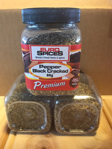 Euro Spices - Pepper Black Cracked 80gms