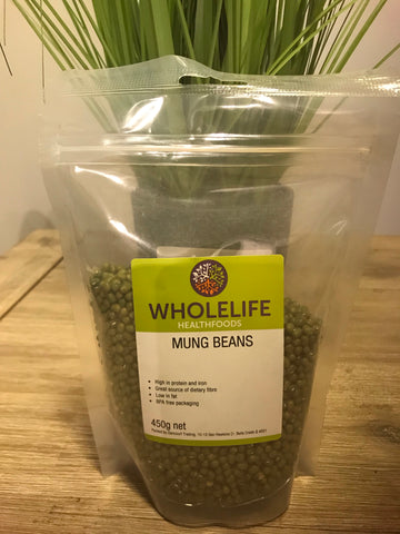 Wholelife Mung Beans 450gms