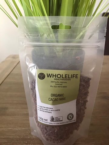 Wholelife Organic Cacao Nibs 150gms