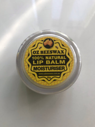 Oz Beeswax - 100% Natural Lip Balm Moisturiser - 20gms