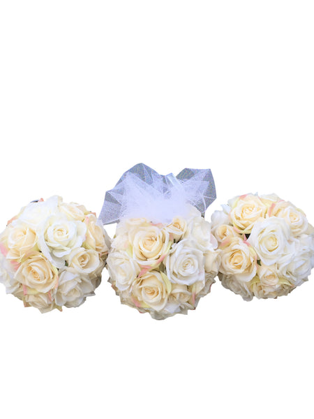 Wedding Christening  - Handmade Flower Balls - available in other colours
