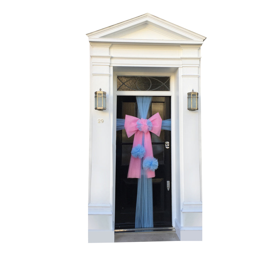 Triple Pom Pom Door Bow - all colours available