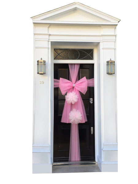 Hanging  Pom Pom Door Bow - all colours availableo