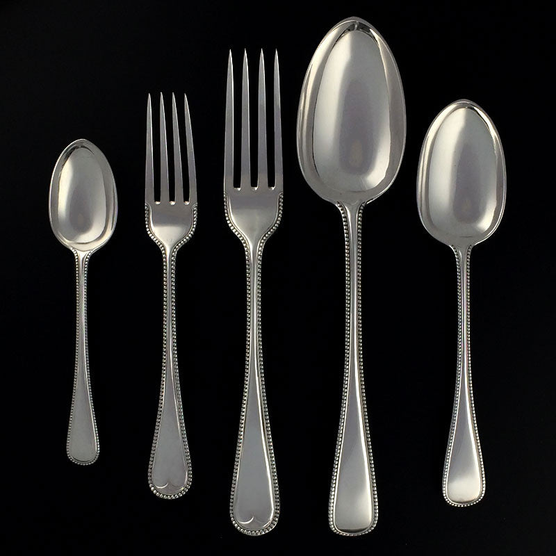 Sterling Silver Bead Pattern Flatware
