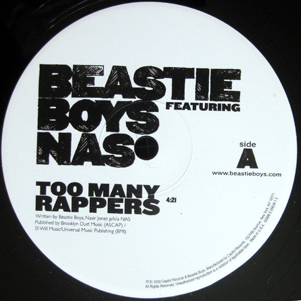 Beastie Boys Featuring Nas Too Many Rappers Vinyl 12""