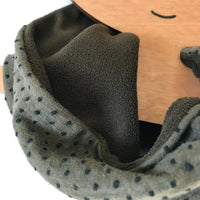 Khaki Spot Print Tube Scarf / Snood