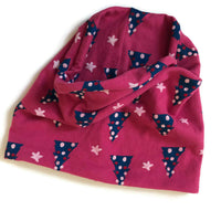 Pink Xmas Tube Scarf / Snood