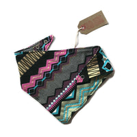 Reversible Dribble Bib. Shiny Aztec print. *GIFT SET AVAILABLE*