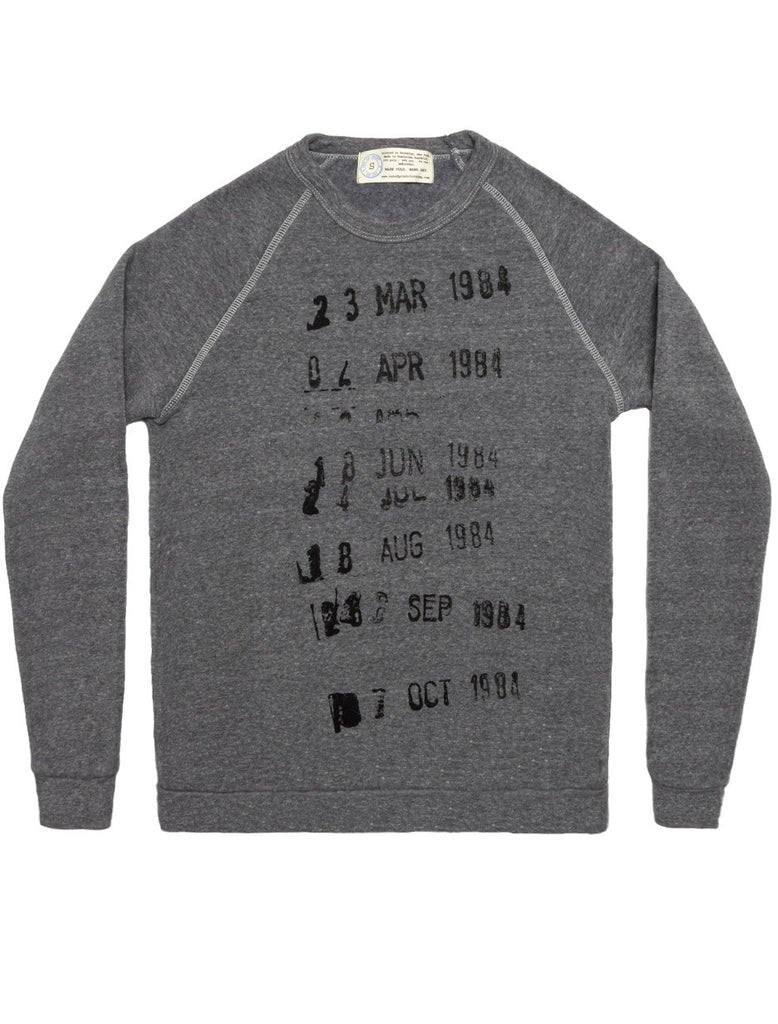 Library Stamp gray sweatshirt